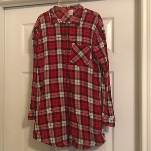 Red & black tunic flannel!